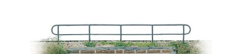 Geländer aus 0,7mm Ø Draht verschweißt 300mm, Spur H0