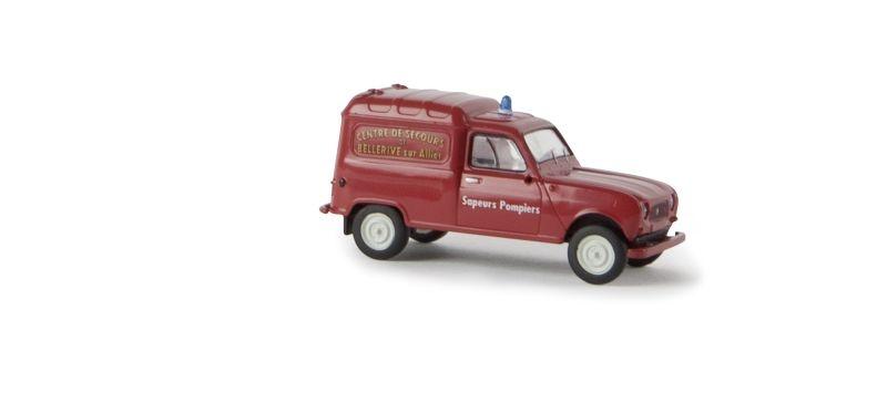 Renault R4 Fourgonnette Sapeurs Pompiers Bellrive, Spur H0