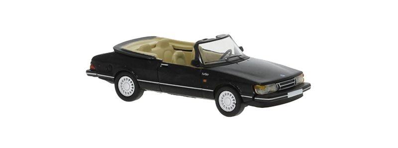 Saab 900 Cabriolet, schwarz, 1986, 1:87 / Spur H0