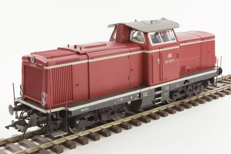 Diesellok BR213 der DB, rot, Epoche IV 4, Spur 0