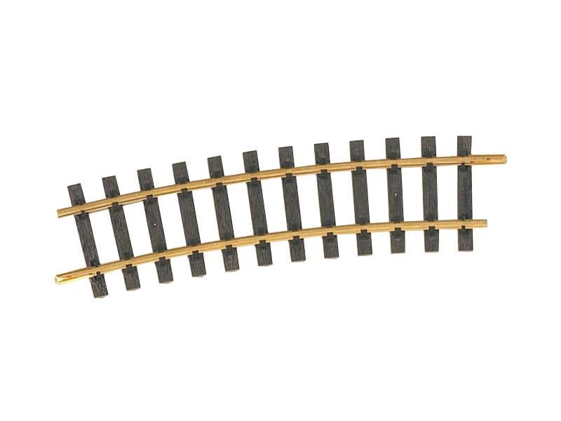 Gleis gebogen R5 1.243 mm, 15° Spur G