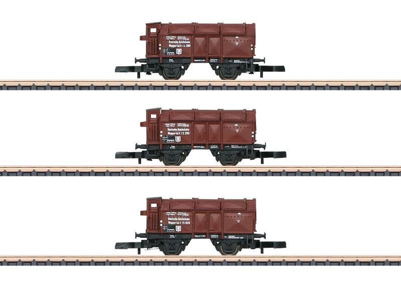 Klappdeckelwagen-Set der DRG, Spur Z