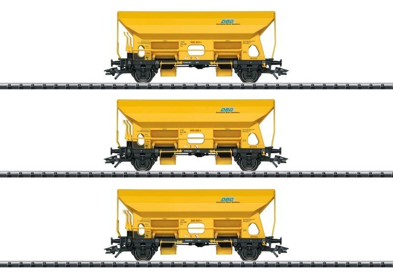 Selbstentladewagen-Set Fcs der DBG, DC, Spur H0