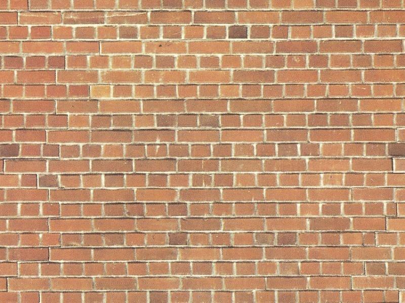 Mauerplatte Ziegelstein, 64 x 15 cm Spur H0, TT