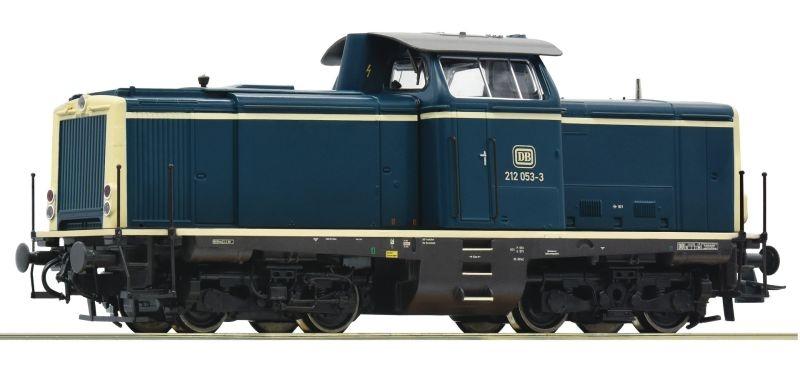 Diesellok BR 212 ozeanblau/beige der DB, DC, Spur H0