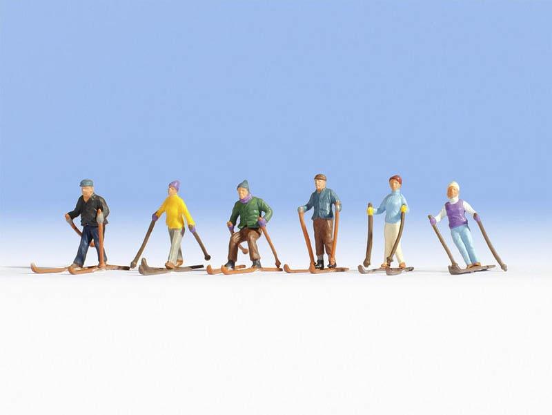 Skifahrer Figuren Spur H0