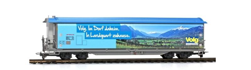 Schiebewandwagen Volg Landquart Haiqq-tuyz 5175, RhB, H0m