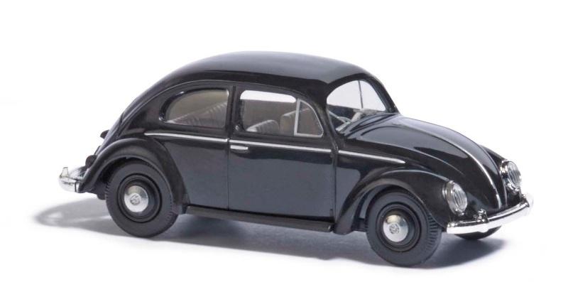 VW Käfer mit Brezelfenster, Schwarz, Spur H0
