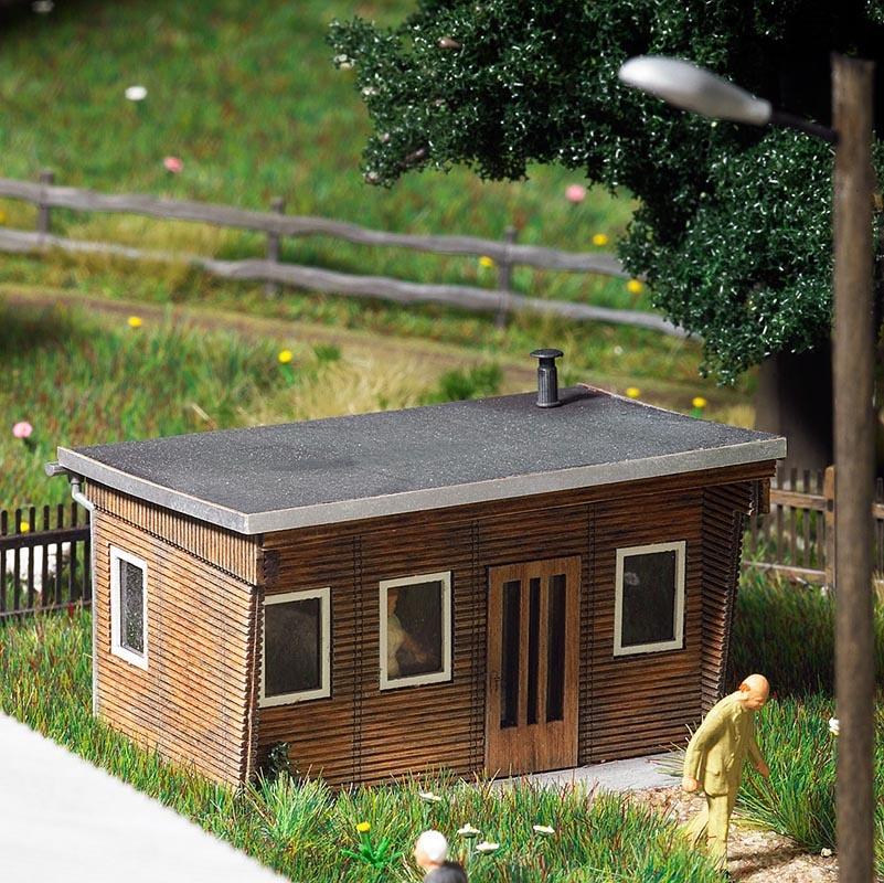Holz-Bungalow Bausatz, Spur H0