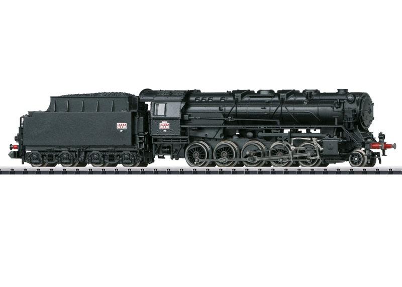Dampflok Serie 150 X, SNCF, Sound, mfx, DCC, Minitrix Spur N