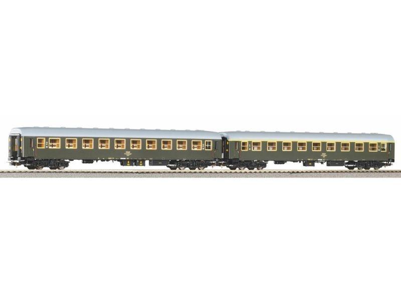 2er Set Personenwagen 111A + 112A der PKP, DC, Spur H0