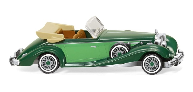 MB 540 K Cabrio - kieferngrün/gelbgrün, 1:87 / Spur H0