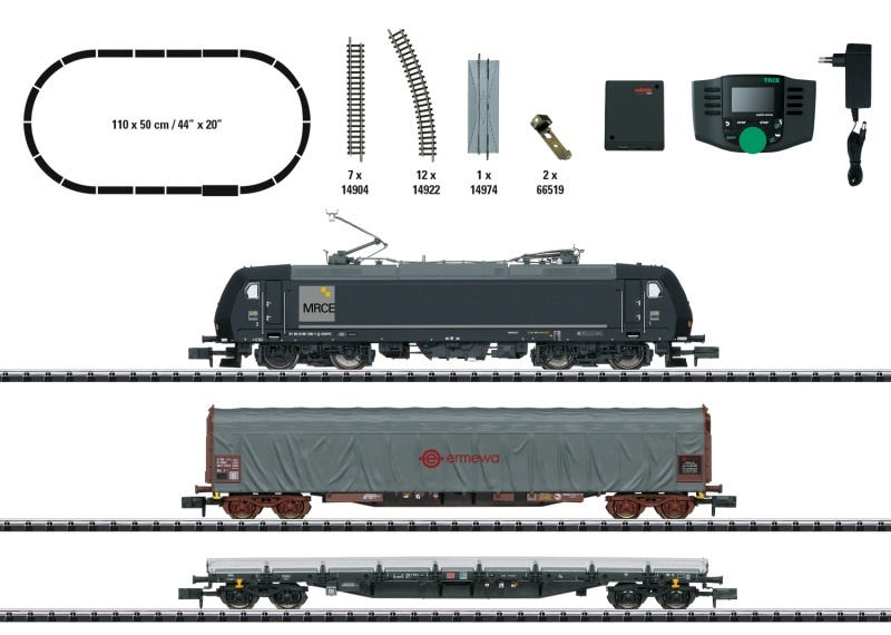 Digital-Startpackung Güterzug, DB AG, Minitrix Spur N