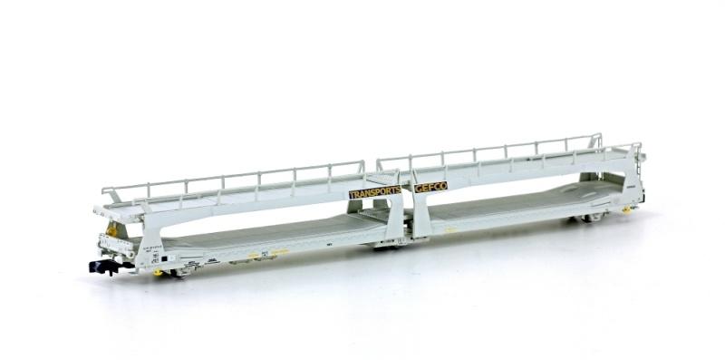 Autotransporter TA 370 SNCF / Gefco, Ep.IV, grau, Spur N