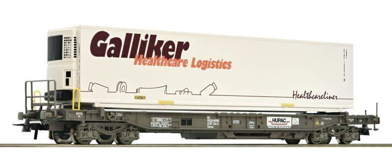 Einheitstaschenwagen der Hupac, Kühlauflieger, DC, Spur H0