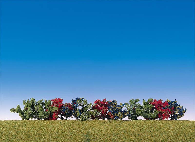 12 Büsche, farblich sortiert H0, TT, N