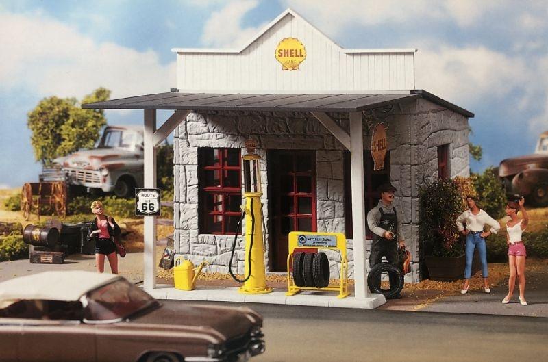 Shell Tankstelle, Bausatz, Spur G