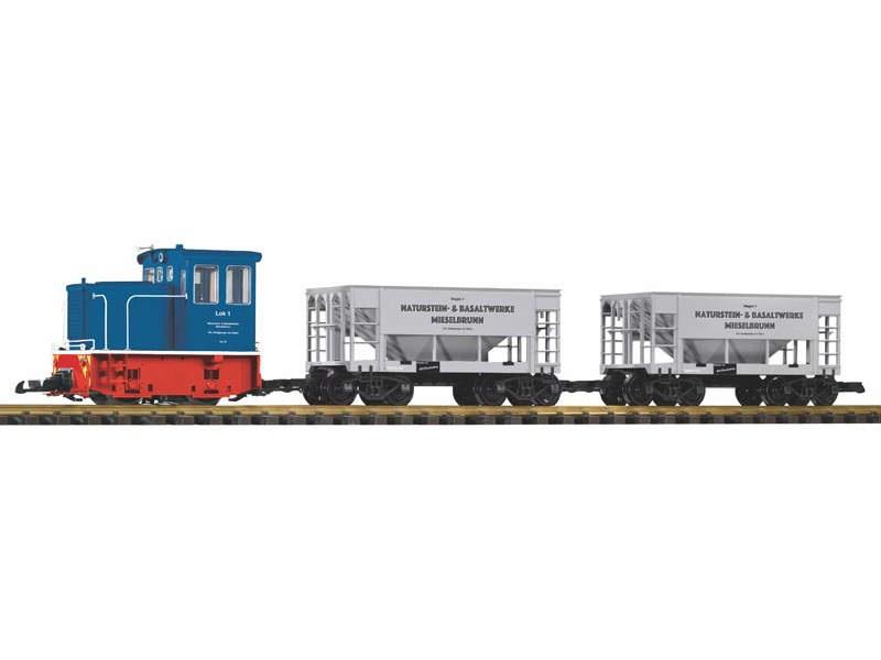 Start-Set Güterzug GE-25Ton mit 2 Schüttgutwagen, Spur G