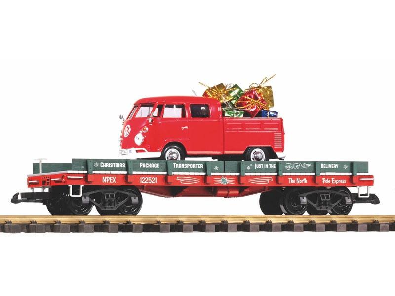 Autotransportwagen Weihnachten mit VW Kombi, Spur G
