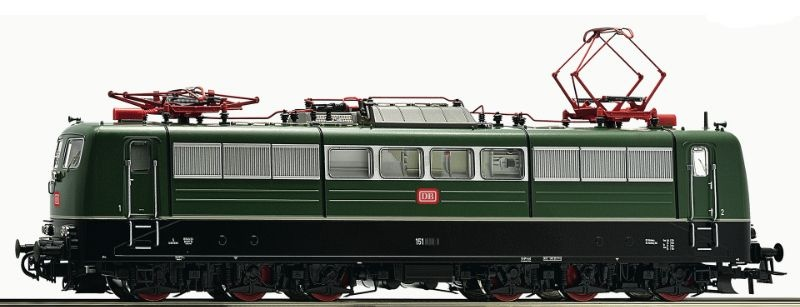 E-Lok BR 151 grün der DB, Epoche IV, Spur H0