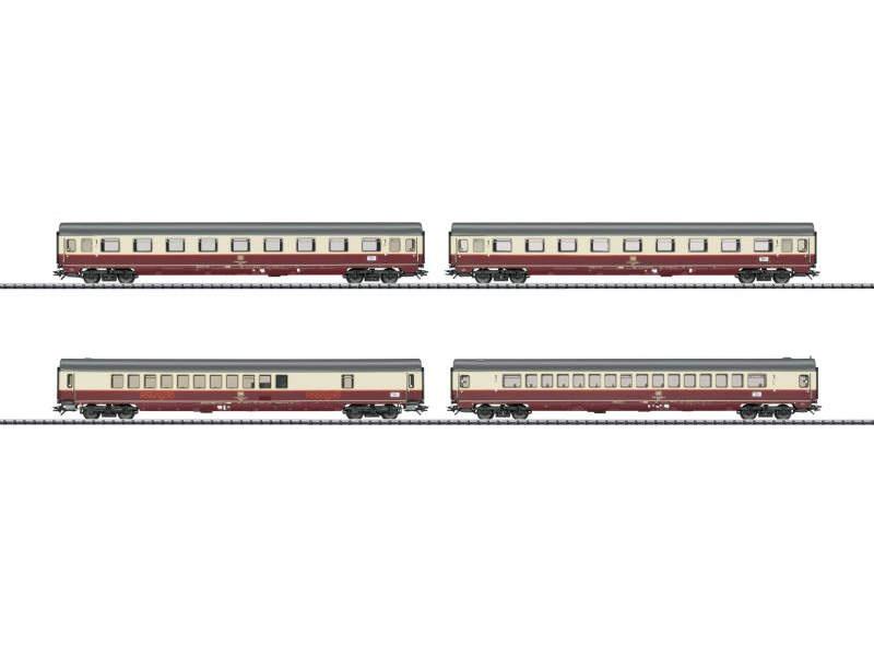 Wagenpackung Flügelzug Rheingold DB, mfx, DCC, Spur H0