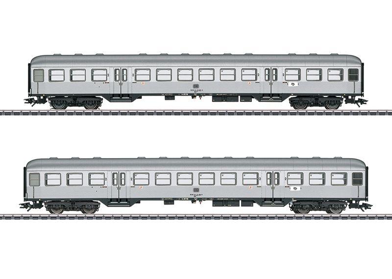 Personenwagen-Set Silberlinge der DB, 2-tlg.,Ep.IV,Spur H0