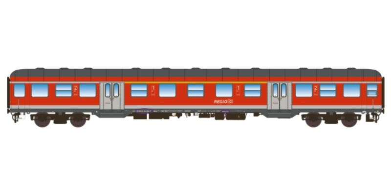 n-Wagen, AB nrz 418.4, 1./2Kl, DB, V/VI, verkehrsrot, DC, H0