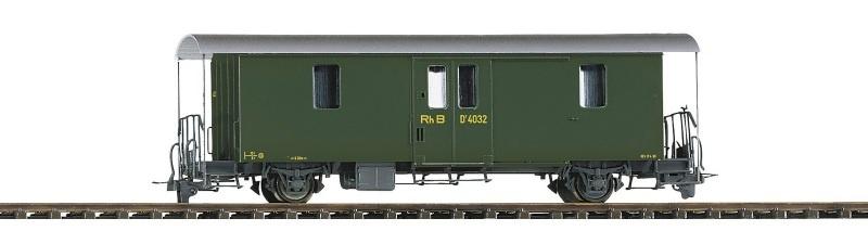 RhB D2 4043 Packwagen grün, Spur H0m