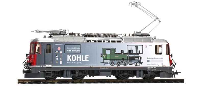 RhB Ge 4/4 II 616 Spenden-Lok Kohle, DC, Spur H0