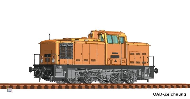 Diesellokomotive BR 106 der DR orange, Sound, AC, Spur H0