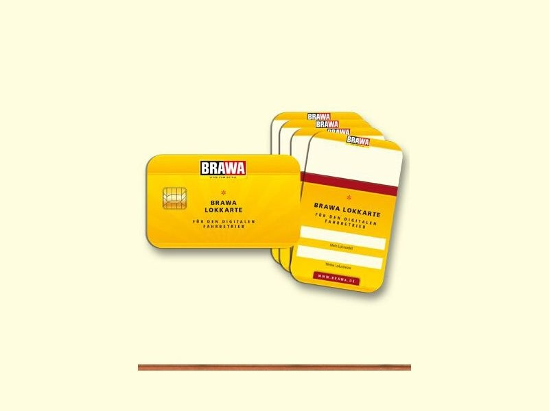 Lokkarten für den Digital-Fahrbetrieb, 5-er Set