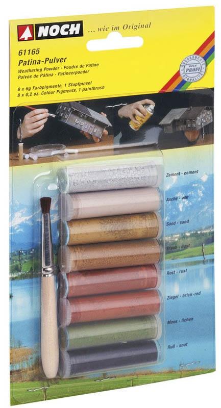 Patina-Pulver, 8 Röhrchen mit Farbpigmenten