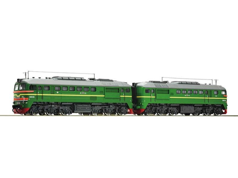 Diesellokomotive 2M62 der RZD, DC, Spur H0