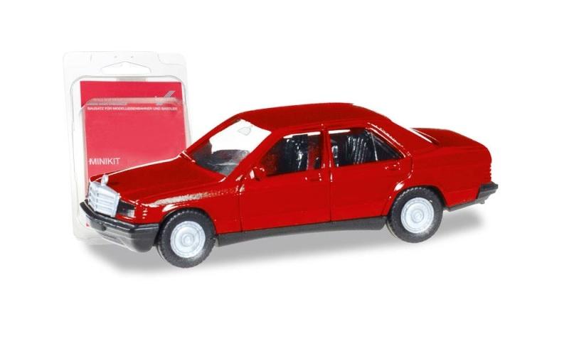 MiniKit: Mercedes-Benz 190 E, rot, 1:87 / Spur H0