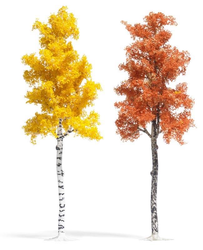 Platane und Birke Herbstbraun, Spur H0