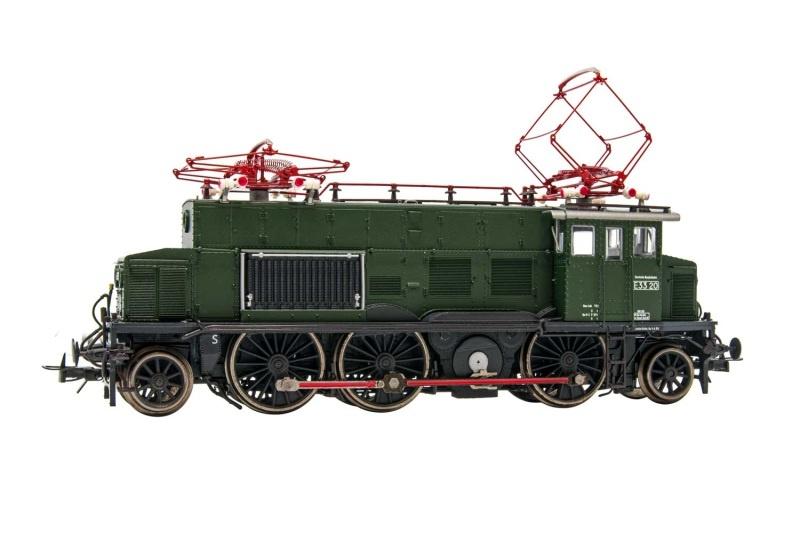 Elektrolokomotive E 33 020, grüne Lackierung, DB, DC, H0