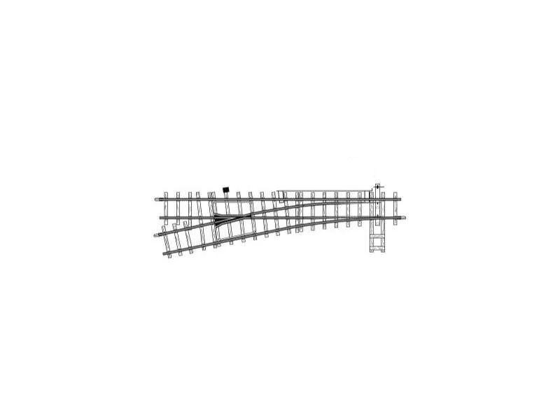 Elektrische Weiche links, 12°, 162,3 mm, R 515 mm, Spur H0m