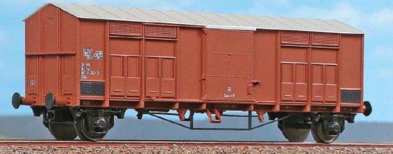 Gedeckter Güterwagen Typ Ghs der FS, DC, Spur H0