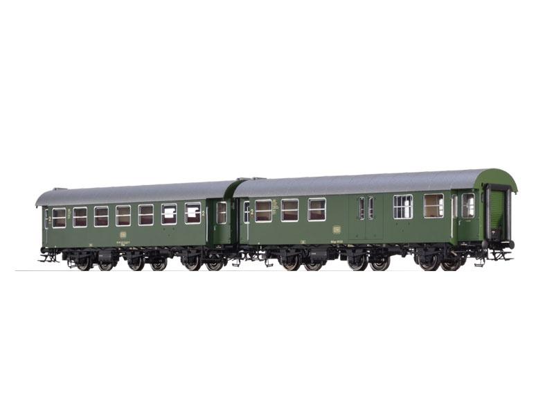 2er-Set Personenwagen B3yge/BD3yge der DB, IV, Spur H0