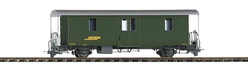 RhB D2 4045 Packwagen grün, Spur H0m