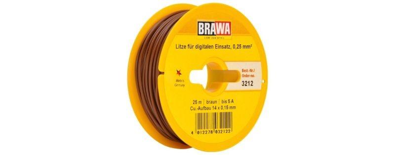 Einzelader 0,25 mm², 25 m Spule, braun
