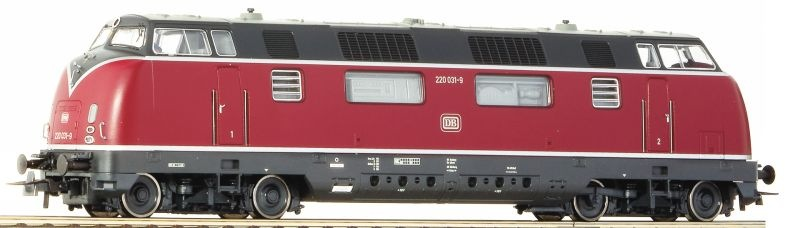 Diesellokomotive 220 036-8 rot der DB, AC, Spur H0