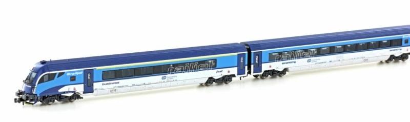 4tlg. RAILJET Garnitur CD mit Steuerwagen, Spur N