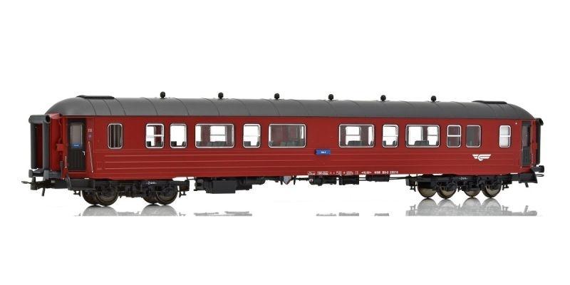 Topline Personenwagen B3-2 25522, Typ 3 NSB, Rot/Schwarz, H0