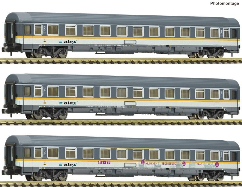 3-tlg. Set: Eurofima-Wagen, alex, Spur N