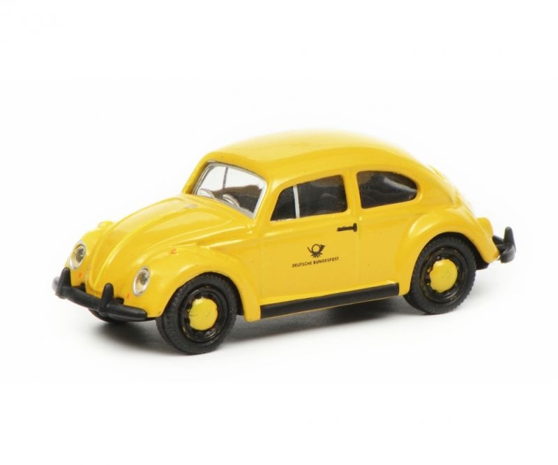 VW Käfer Deutsche Bundespost, gelb schwarz, 1:87 / Spur H0
