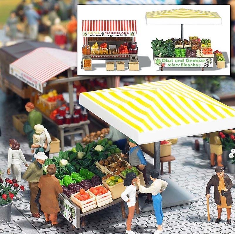 Marktstand Obst, Honig, Spur H0