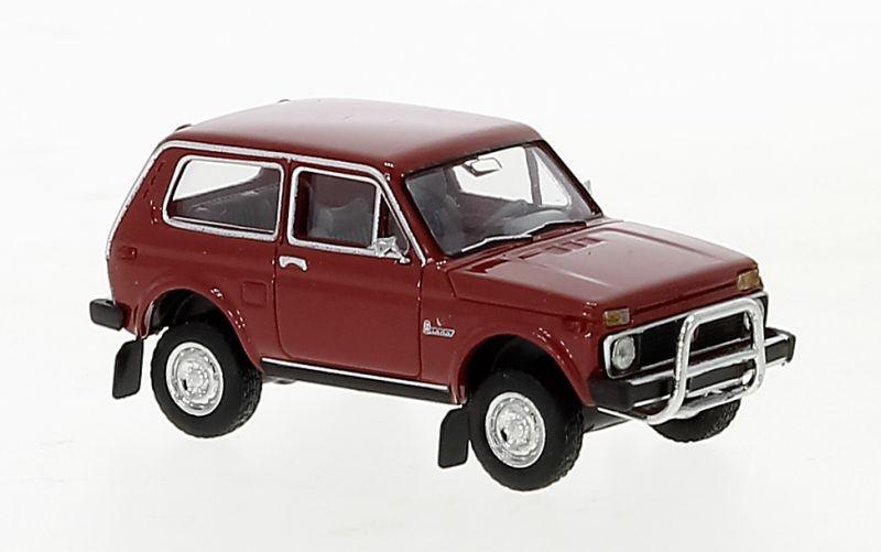 Lada Niva, rot, mit Rammbügel, 1976, 1:87 / H0