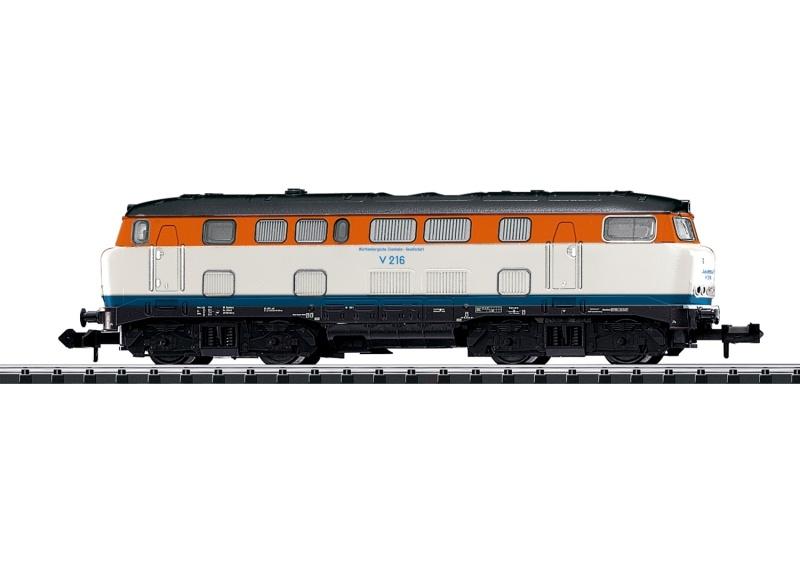 Diesellokomotive Baureihe V 160 der WEG, Minitrix Spur N