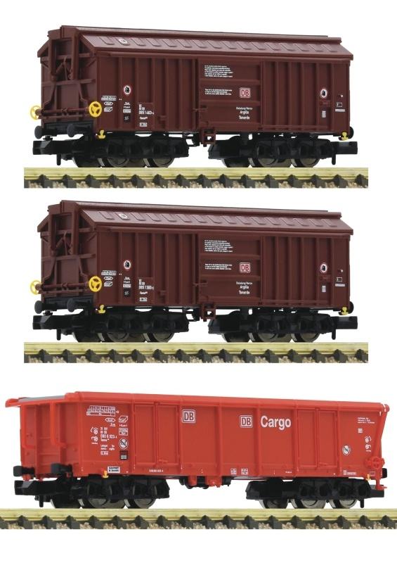 3-tlg. Set 1: Tontransportwagen der DB AG, DC, Spur N